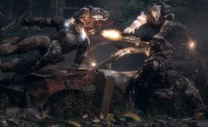 jeux de guerre sur xbox 360 - gears of war 1