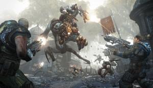 jeux de guerre sur xbox 360 - gears of war 2
