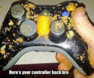 xbox 360 controller -cheetos
