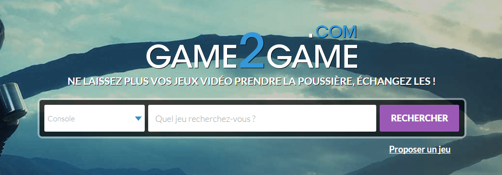 trouver un jeu video game2game