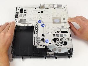 PS4 chauffe - plaque métallique